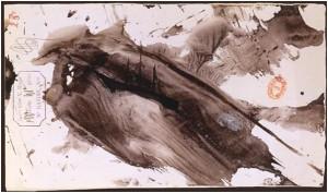 Tache, de Victor Hugo – Encre noire et lavis sur papier beige, après 1875 – BNF